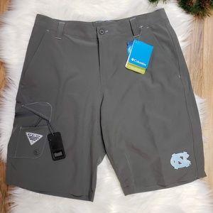 NWT Columbia UNC PFG Terminal Tackle Shorts